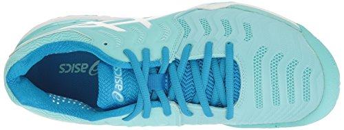 argent Aqua femmes 7 Bleu US 10 blanc Chaussure Resolution Asics pour tennis B de Blanc Splash Gel Diva xqwHzOfq