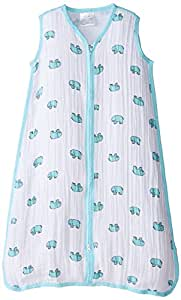 aden + anais classic sleeping bag, jungle jam - elephant, medium
