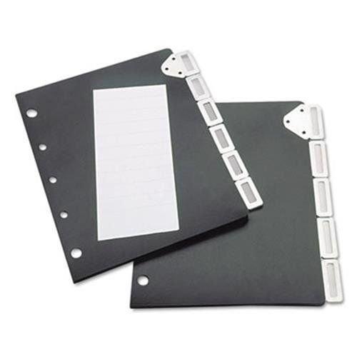Tarifold Index Divider Set for Catalog Rack, 5-Tab Set, Black (TFI50401)