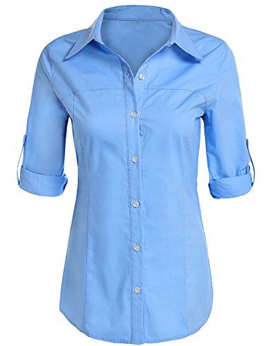 Womens Sleeve Oxford Blouse Button