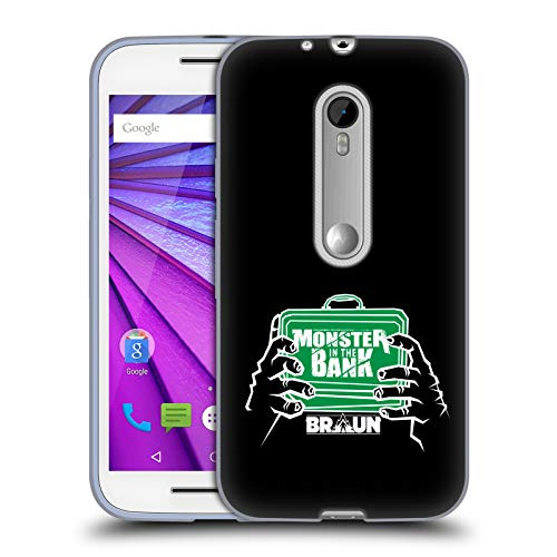Official WWE Braun Strowman Monster in The Bank 2018/19 Superstars 4 Soft Gel Case for Motorola Moto G (3rd - Case Moto Monster G