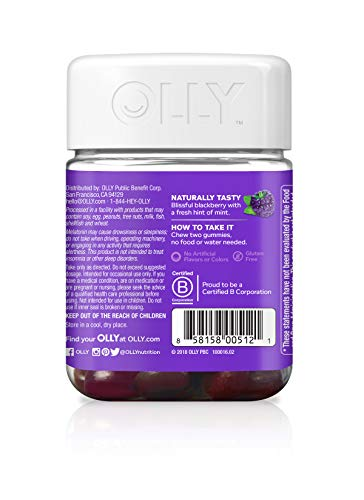 Olly Sleep Melatonin Gummy All Natural Flavor And Colors With L