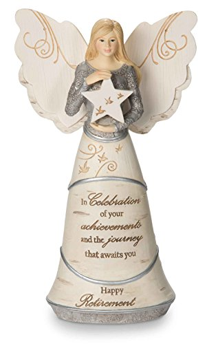Pavilion Gift Company 82375 Celebration of Retirement Angel Figurine, 6-1/2