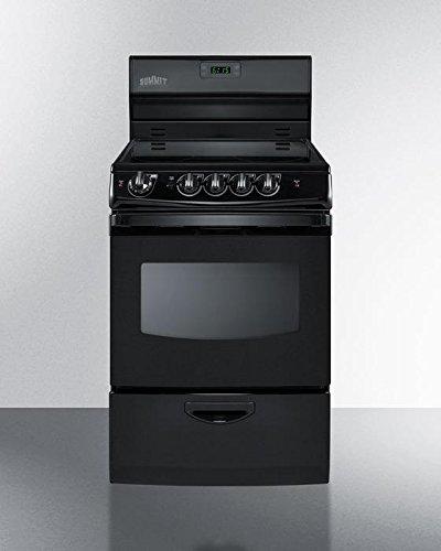 Summit FBA REX243B Kitchen Cooking Range, Black
