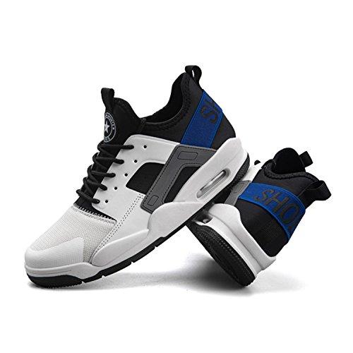 Tqgold Interior Sneakers Blu All'aperto Corsa Running Casual Uomo Ginnastica Fitness Sportive Da Scarpe Bianco D'aria Cuscino SZSzqxrwP