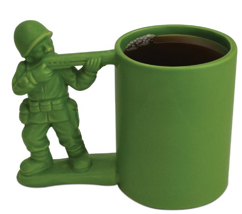 Green Toy Army Man Mug