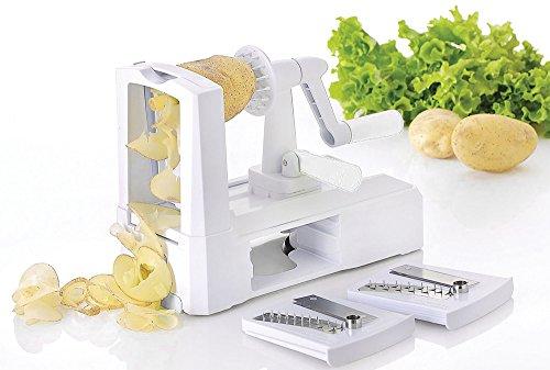 Power Shrimp Cutter (Yooyoo 3 in 1 Fruit Peeler Spiral Vegetable Slicer Cutter Shred Kitchen)
