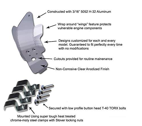 2005-2014 Husqvarna TE410//TE610//TE630 Aluminum Skid Plate By Ricochet 461
