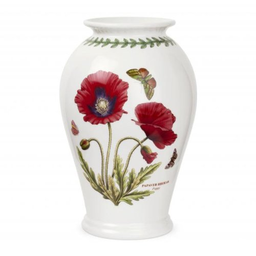 in Ceramica Portmeirion 25,4 cm Vaso Canton con Papavero