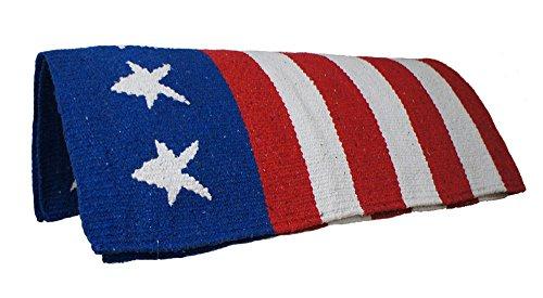 Tahoe Tack Hand Woven American Flag Patriotic Acrylic Western Horse Saddle Blanket – 32×64