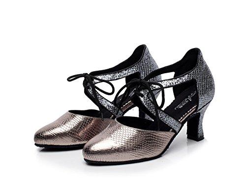Jazz EU34 Tango Chacha Baile Sandalias Samba JSHOE De Mujer Redonda heeled7cm Altos Moderno De 5 Tacones Latino Zapatos Salsa UK3 Para Our35 Brown Punta 4q6PqBp