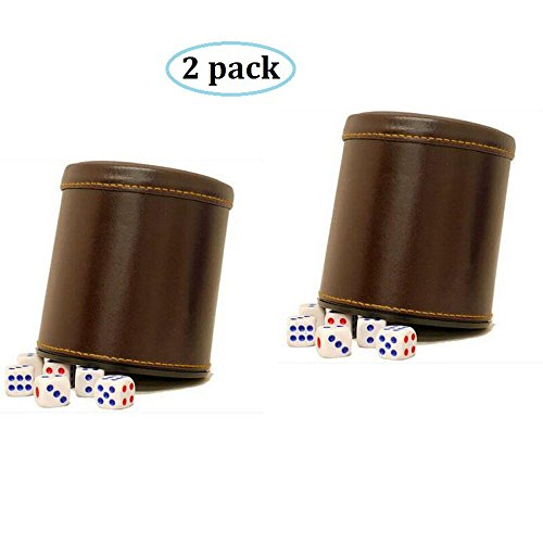 RERIVER Leather Dice Dices Brown