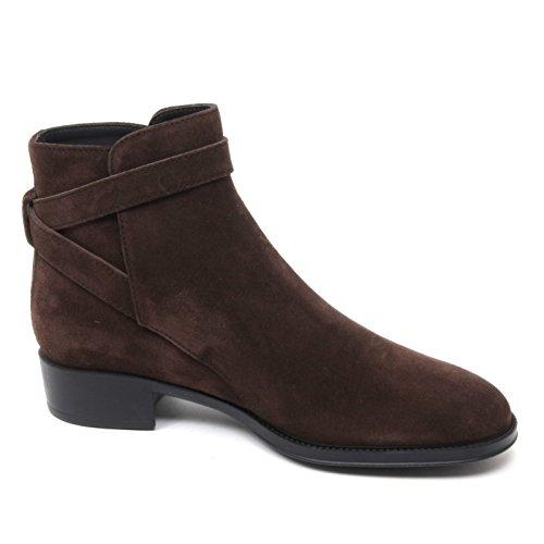 Marrone Basso Woman Tronchetto Boot Shoe Donna Tod's B4837 Scarpa xPXBw1qxa