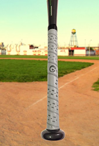 (Long Ball Grips - A Premium Non-slip Cushioned Bat Grip for Baseball and Softball Bats (Grey))