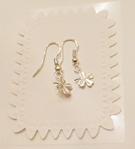 Four Leaf Clover Shamrock Dangle Earrings With Sterling Silver