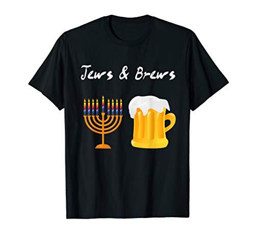 Jews And Brews Jewish Beer Drinking T-Shirt]()