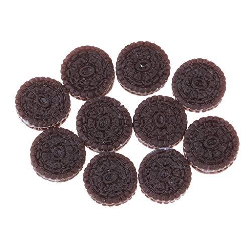 FLAMEER 1/12スケール ドールハウス ミニチュア クッキー ビスケットモデル 7色選ぶ - #5