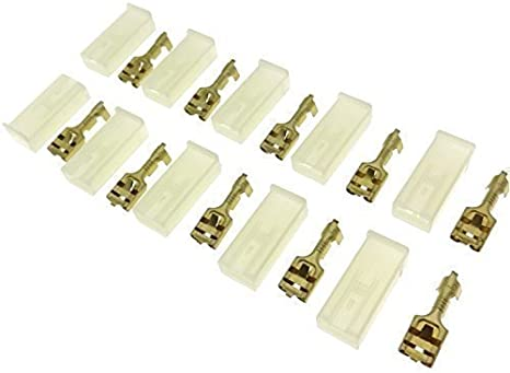 Lot de 10 cosses femelle fiche plate isol/ée sur toute sa longueur de c/âble fiche connecteur 6,3 mm