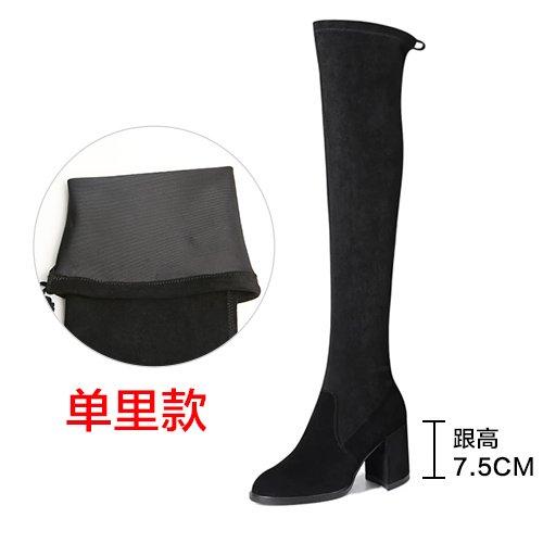 FLYRCX Europäische Mode Damen hochhackigen Stiefeln mit dicken Baumwolle Baumwolle Baumwolle Schuhe mit sub Herbst und Winter Europäische Größe  34-40 23c94e
