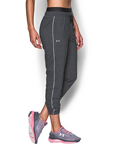 Under Armour Women's Favorite Slim Leg Jogger Pant, Carbon Heather (090), Small