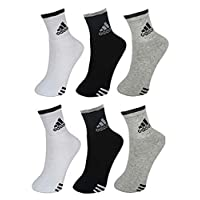 JILOWA Men's Cotton Socks Pack of 6 Pair