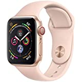 Apple Watch Series 4 (GPS + Cellular, 40mm) - Gold Aluminium Case with Pink Sand Sport Band (Renewed)