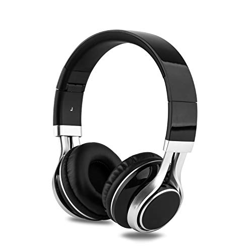 Alltrum On-Ear Headphone, Adjustable Headsets for Kids, Children, Teens, Adults, Foldable Headphones with Microphone, Wired Modes Compatible for Cellphones/PC/iPad/ MP3/ MP4, Black