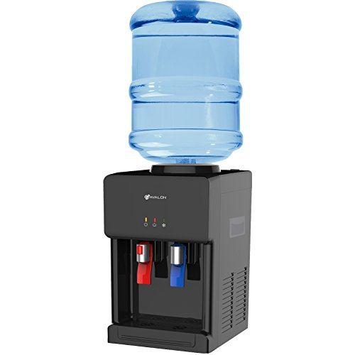 Avalon A1CTWTRCLRBLK Premium Hot/Cold Top Loading Countertop Water Cooler Dispenser With Child Safety Lock, Black by Avalon