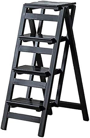 Taburete para adultos con escalera de 4 escalones, portátil, de madera de 2 pasos, para niños, para interiores, multiusos, 2 escalones, (color : 4 pasos): Amazon.es: Hogar