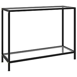 vidaXL Table Console Table d'Entrée Table de Couloir Meuble de Salon Salle de Séjour Maison Intérieur Transparent…