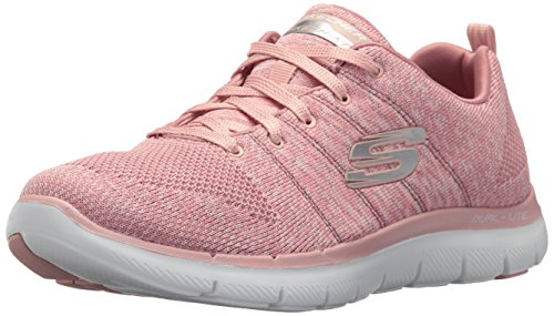 Skechers Women's Flex Appeal 2.0 Sneaker,Rose,7.5 M US