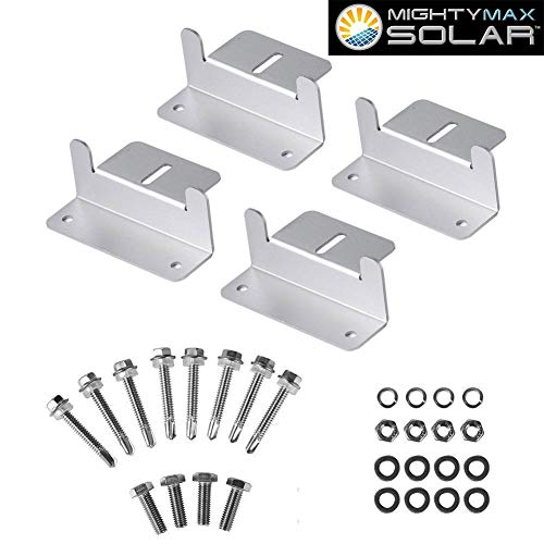 Mighty Max Battery Solar Panel Mounting Z Bracket kit for 100 Watt Solar Panel Brand Product