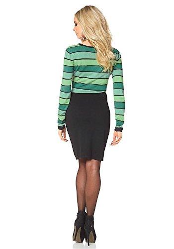 Melrose - Vestido - Opaco - para mujer Verde-Negro