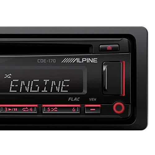 Alpine Single DIN Car Stereo Receiver