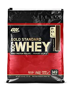 Optimum Nutrition Gold Standard 100% Whey Protein Powder, Double Rich Chocolate, 4.55 Kilograms