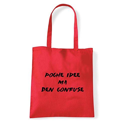 Rosso Donna Di bag Cotone Idee A shirt T Borsa confuse Art Tracolla PA4avxa