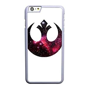 Custom made Case,Star Wars Rebel Alliance Logo Cell Phone Case for iPhone 6 6S plus 5.5 inch, White Case With Screen Protector (Tempered Glass) Free S-7309594