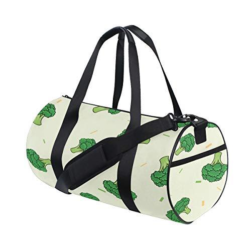 (Duffel Daily Little Green Broccoli Pretty Health Weekend Bag Comfortable Handbag Organizer For Gym Rats Dancer Knapsack Excise Training College Dufflebag)