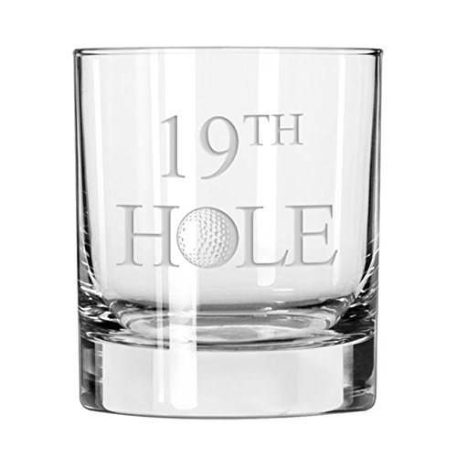 19th Hole Golf Whiskey Glass Golfer Gift