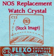 Waltham 21.7 X 18.4 NOS Flexo Replacement Watch Crystal CMX328-35 Nos Watch Crystal