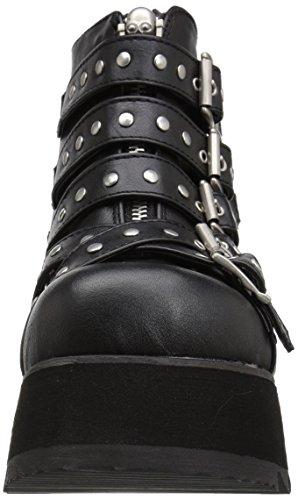Szene-30-Plattform Keil-Schnürstiefel mit schwarzen Bändern - (37 EU = US 7) - Demonia