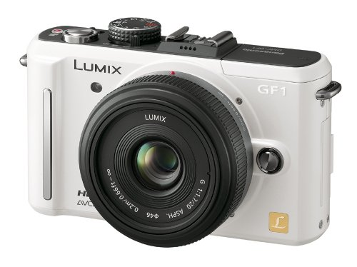 Panasonic デジタル一眼カメラ GF1 レンズキット(20mm/F1 7パンケーキレンズ) シェルホワイト DMC-GF1C-W