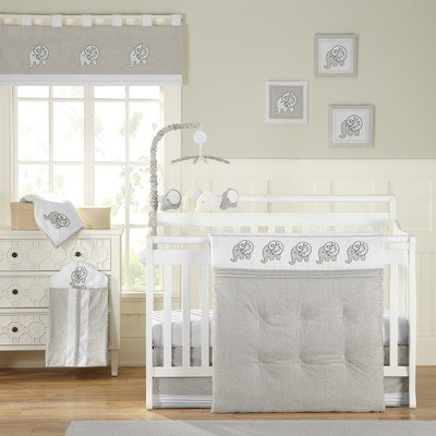 Elephant Chic 11 Piece Baby Crib Bedding Set by Laugh, Giggle & Smile