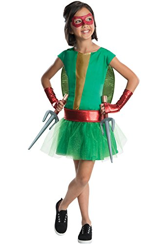 Tmnt Raphael Tutu For Women (TMNT - Deluxe Raphael Girl Tutu Kids Costume)