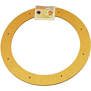 """Biodegradable Floral Craft Ring, 12"""", Ez Glueable Wreath Form, for Photo Frame, Other Arts, Crafts and Creative Projects"""