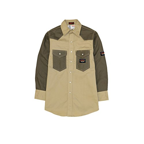 rasco-fire-retardant-khaki-green-moss-shirt-fr-western-with-snaps-10-oz
