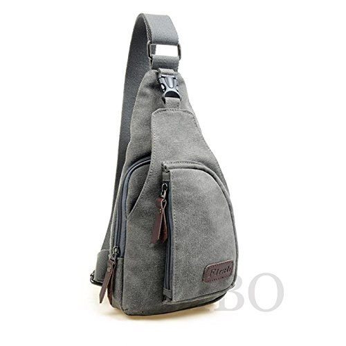 Backpack Messenger Canvas Small Men's Crossbody Bag Sling Military Green Cycling Hiking Shoulder Chest IwSqIYzT