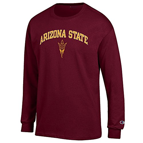 (Elite Fan Shop Arizona State Sun Devils Long Sleeve Tshirt Varsity Maroon - M)