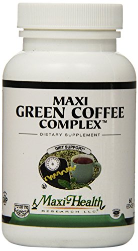 Maxi Salubriousness Green Coffee Bean Complex - with Green Tea Extract - Diet Support - 60 Capsules - Kosher