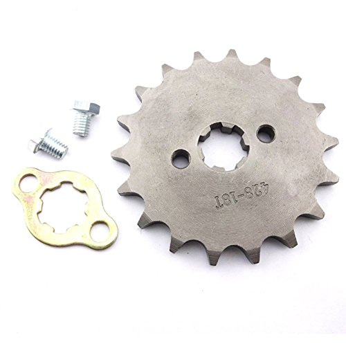 Sprocket Motor Tooth (TC-Motor 428 18 Tooth 17mm Front Chain Sprocket Gear For 50cc 70cc 90cc 110cc 125cc 140cc 150cc 160cc Engine ATV Quad Pit Dirt Trail Bike)